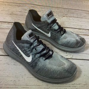 Nike Free RN fly knit gray running shoes